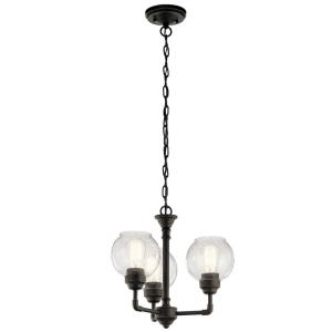 Niles - Three Light Convertible Chandelier