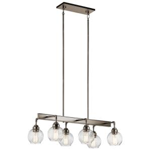 Niles - Six Light Linear Chandelier