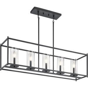 Crosby - Five Light Linear Chandelier