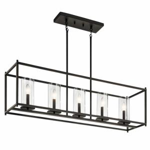 Crosby - 5 light Linear Chandelier - with Contemporary inspirations - 25.75 inches tall by 10 inches wide
