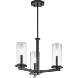 Crosby - Three Light Convertible Chandelier