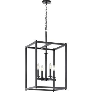 Crosby - 4 light Foyer Pendant - with Contemporary inspirations - 31 inches tall by 16 inches wide