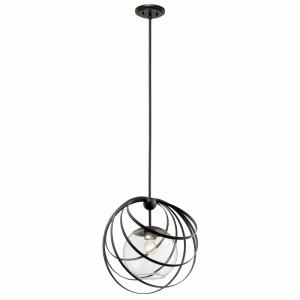 Kerti - 1 light Pendant - with Contemporary inspirations - 14 inches tall by 13.75 inches wide