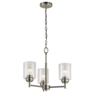 Winslow - 3 light Mini Chandelier - 15.25 inches tall by 18 inches wide