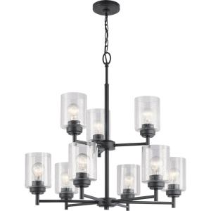 Winslow - 9 light 2-Tier Chandelier - 27 inches tall by 27 inches wide