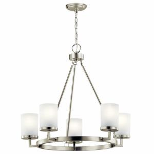 Daimlen - 5 light Medium Chandelier - with Transitional inspirations - 24.25 inches tall by 26.75 inches wide