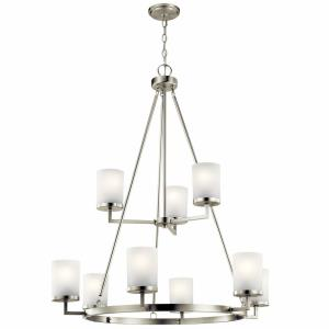 Daimlen - 9 light 2-Tier Large Chandelier - with Transitional inspirations - 40 inches tall by 34 inches wide