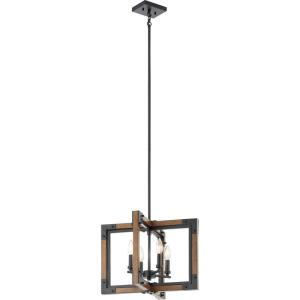 Marimount - 4 light Convertible Chandelier - with Lodge/Country/Rustic inspirations - 14 inches tall by 18 inches wide