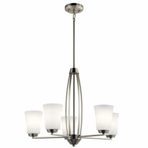 Tao - 5 light Medium Chandelier - 20.75 inches tall by 25.25 inches wide