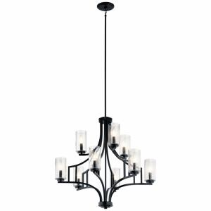 Vara - 9 light 2-Tier Chandelier - 29.75 inches tall by 32 inches wide