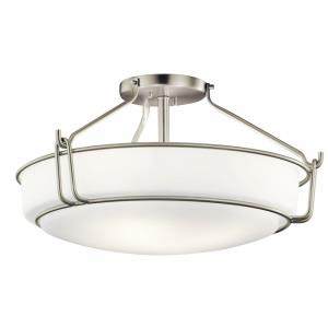 Alkire - 4 light Semi-Flush Mount - with Transitional inspirations - 11 inches tall by 22 inches wide