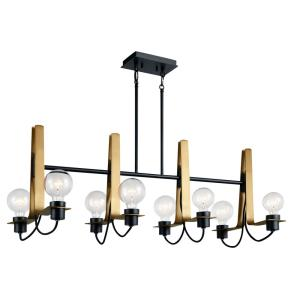 Arvela - Eight Light Double Linear Chandelier