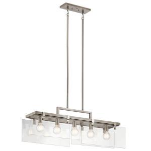 Tiers - Five Light Linear Chandelier