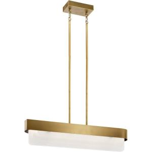 Serene - 64W 2 LED Linear Chandelier - 6 inches wide