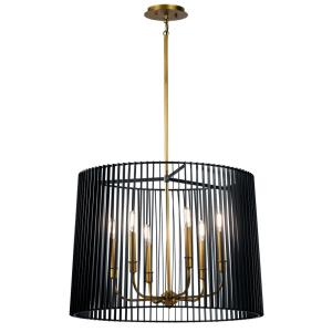 Linara - 6 light Round Chandelier/Pendant - with Contemporary inspirations - 19.75 inches tall by 26 inches wide