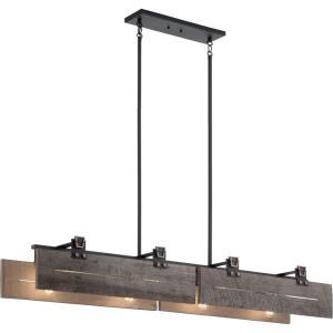 Ridgewood - 8 light Linear Chandelier - 12.5 inches wide