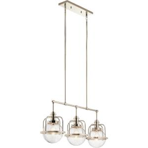 Triocent - Three Light Single Linear Chandelier