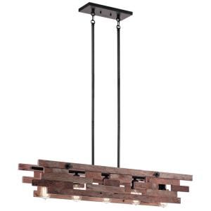 Cuyahoga Mill - Five Light Single Linear Chandelier
