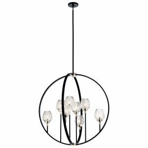 Moyra - 8 light 2-Tier Large Chandelier - with Contemporary inspirations - 38.5 inches tall by 36 inches wide