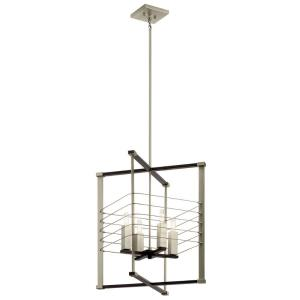 Lente - 4 Light Foyer - with Vintage Industrial inspirations - 24.75 inches tall by 16.75 inches wide