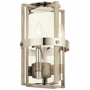 Peyton - 2 Light Wall Sconce - with Lodge/Country/Rustic inspirations - 12.75 inches tall by 8.25 inches wide