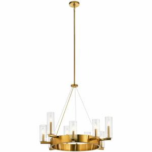 Cleara - 9 light Large Chandelier - with Transitional inspirations - 29 inches tall by 31.5 inches wide