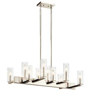 Cleara - Ten Light Linear Chandelier