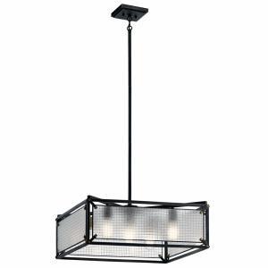 Steel - Five Light Medium Chandelier