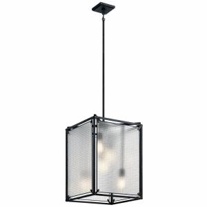 Steel - 5 light Foyer - 26.25 inches tall by 18 inches wide