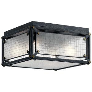Steel - Four Light Flush Mount