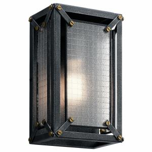 Steel - 1 Light Wall Sconce - with Vintage Industrial inspirations - 12 inches tall by 7.5 inches wide