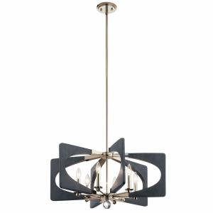 Alscar - 6 light Medium Chandelier - with Transitional inspirations - 14.25 inches tall by 28 inches wide