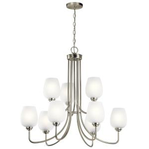 Valserrano - 9 light 2-Tier Chandelier - 29.5 inches tall by 31.75 inches wide