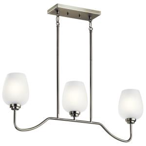 Valserrano - 3 light Linear Chandelier - 16.25 inches tall by 5 inches wide
