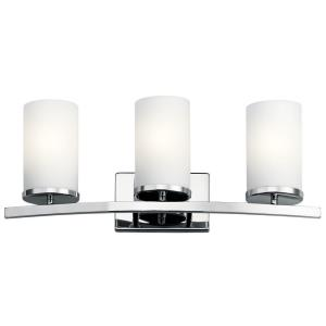 Crosby 3 Light Contemporary Bath Vanity Approved for Damp Locations