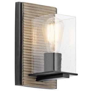 Millwright Lodge/Country/Rustic 1 Light Wall Sconce