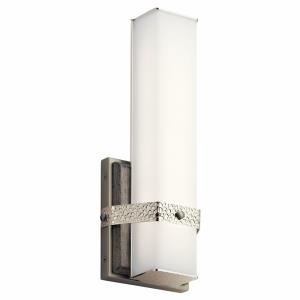 Bisou - 1 Light Linear Bath Vanity Approved for Damp Locations - with Transitional inspirations - 13.75 inches tall by 5 inches wide