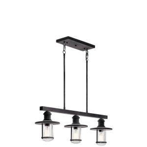 Riverwood - Three Light Outdoor Linear Chandelier