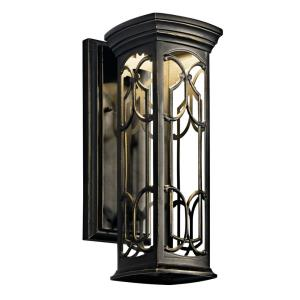 Franceasi - 1 light Wall Mount - with Traditional inspirations - 14.5 inches tall by 5.5 inches wide