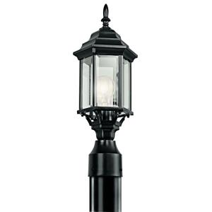 Chesapeake - 1 light Outdoor Post Mount - with Traditional inspirations - 18 inches tall by 6.5 inches wide