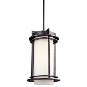 Pacific Edge - 1 light Outdoor Hanging Lantern - with Contemporary inspirations - 13.75 inches tall by 8 inches wide