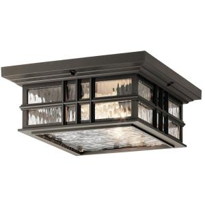 Beacon Square - Two Light Outdoor Flush Mount