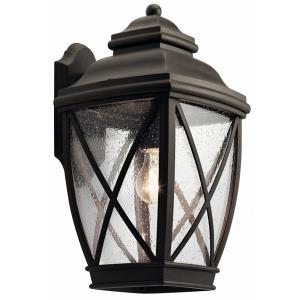 1 Light Outdoor Wall Sconce - with Lodge/Country/Rustic inspirations - 17 inches tall by 9.5 inches wide