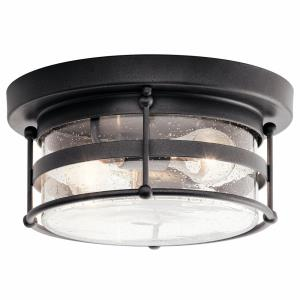 Mill Lane - 2 light Outdoor Flush Mount - with Coastal inspirations - 6 inches tall by 12.25 inches wide
