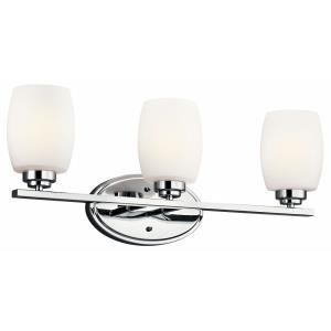 Eileen - 3 Light Bath Vanity Approved for Damp Locations - with Contemporary inspirations - 9 inches tall by 24 inches wide