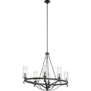 Krysia - 6 light Oval Chandelier - with Lodge/Country/Rustic inspirations - 30 inches tall by 19 inches wide