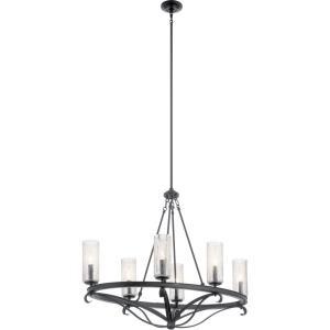 Krysia - Six Light Oval Chandelier