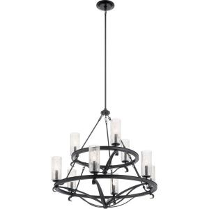 Krysia - 9 light 2-Tier Large Chandelier - with Lodge/Country/Rustic inspirations - 34.25 inches tall by 36 inches wide