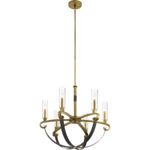 Artem - 6 light Meidum Chandelier - with Soft Contemporary inspirations - 26 inches tall by 27 inches wide