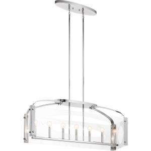 Pytel - 7 light Linear Chandelier - 12.25 inches wide
